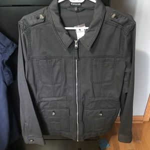 NWT Express Gray Utility Jacket